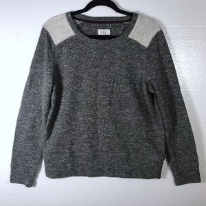 Lou & Grey Size Large Gray Knit Pullover Sweater